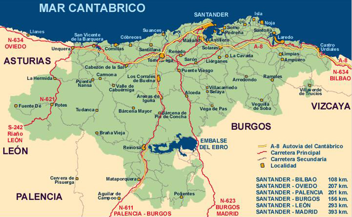 Academia De Medicina De Cantabria Mapa Carreteras